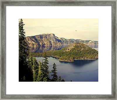 Crater Lake 6 Framed Print by Marty Koch