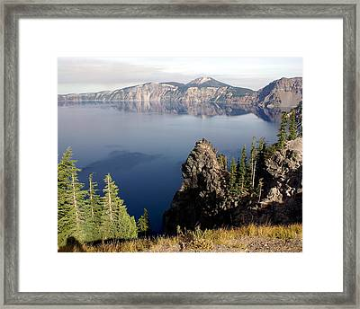 Crater Lake 7 Framed Print by Marty Koch