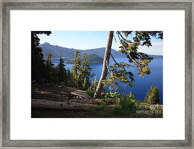 Crater Lake 9 Framed Print by Carol Groenen