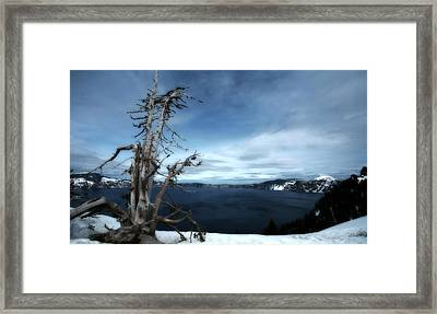 Crater Lake Framed Print by Bonnie Bruno