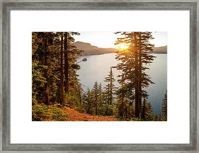 Crater Lake Framed Print by Brian Harig
