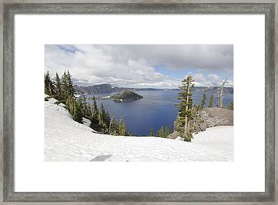 Crater Lake Cloud And Shadow Framed Print