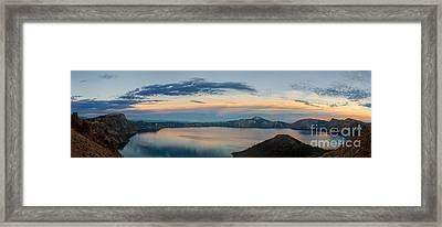 Crater Lake Evening Framed Print