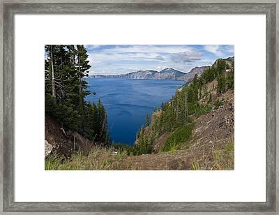 Crater Lake In Mazama Caldera Oregon Framed Print by Alexander Fedin