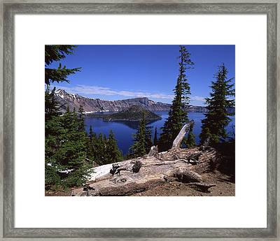 Crater Lake Framed Print by Jim Nelson