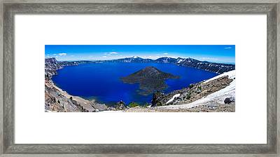 Crater Lake National Park Panoramic Framed Print by Scott McGuire