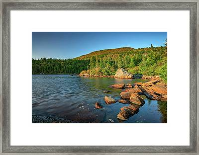 Crater Lake On Tumbledown Mountain Framed Print