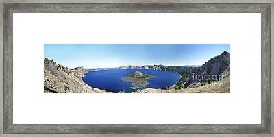 Crater Lake Panoramic Framed Print