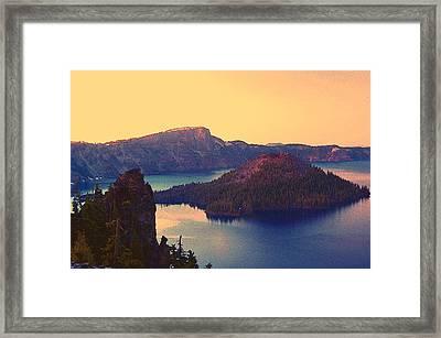 Crater Lake Framed Print by Steve Warnstaff