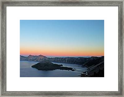 Crater Lake Twilight Framed Print