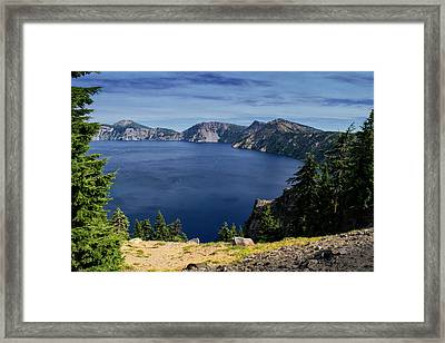 Crater Lake View Framed Print by Frank Wilson