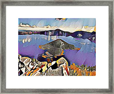 Crater Lake Yellowstone Framed Print by Roger Smith