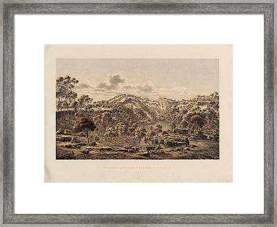 Crater Of Mount Eccles Framed Print