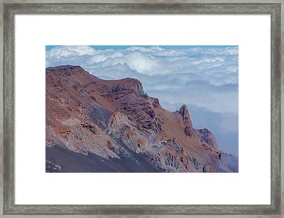 Crater Wall Of The Haleakala Volcano Framed Print by Joe Benning