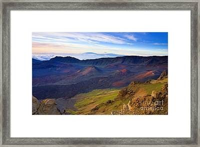 Craters Of Paradise Framed Print by Mike  Dawson