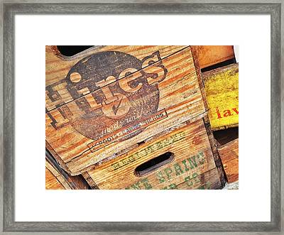 Framed Print featuring the photograph Crates For Hires by Olivier Calas
