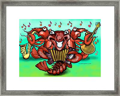Crawfish Band Framed Print