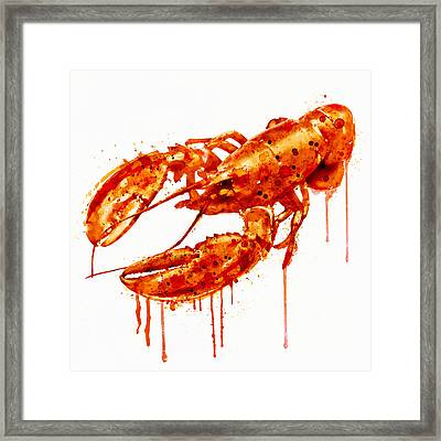 Crayfish Watercolor Painting Framed Print