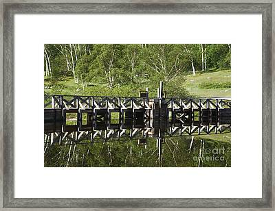Crawford Notch State Park - Willey Pond White Mountains Nh Framed Print by Erin Paul Donovan