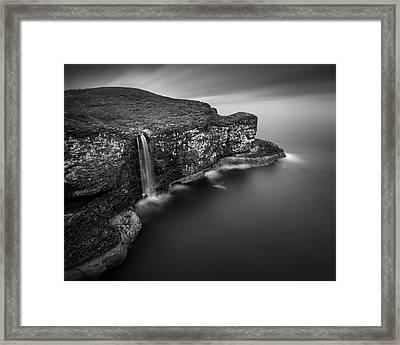 Crawton Cliffs Framed Print by Dave Bowman