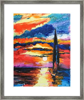 Crayola Collection Framed Print