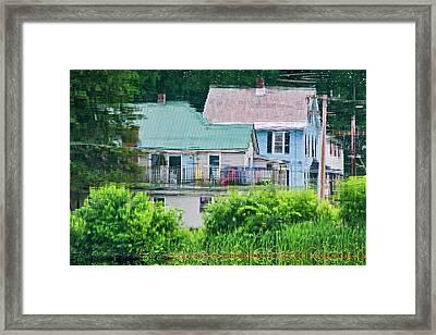 Crayola Cottages Framed Print