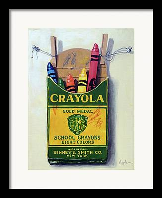Crayons Framed Prints