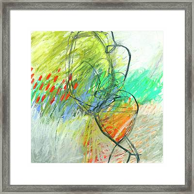 Crayon Scribble #1 Framed Print