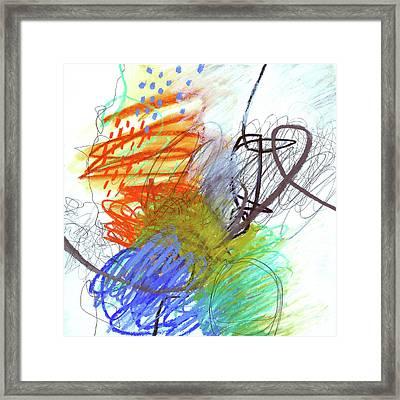 Crayon Scribble #4 Framed Print