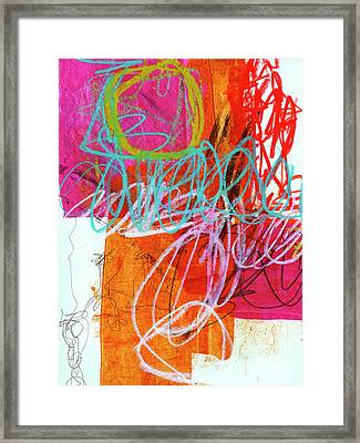 Crayon Scribble #7 Framed Print by Jane Davies