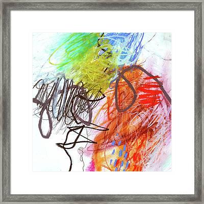 Crayon Scribble#2 Framed Print