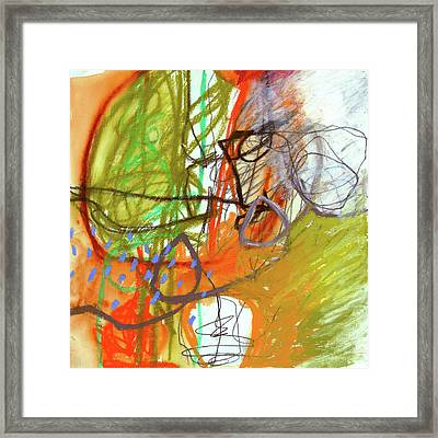 Crayon Scribble#3 Framed Print