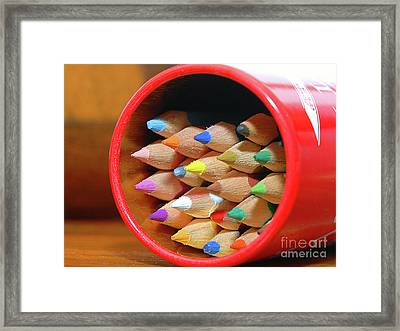 Crayons Framed Print by Graham Taylor