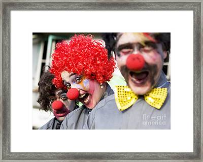 Crazy Circus Clowns Framed Print by Jorgo Photography - Wall Art Gallery
