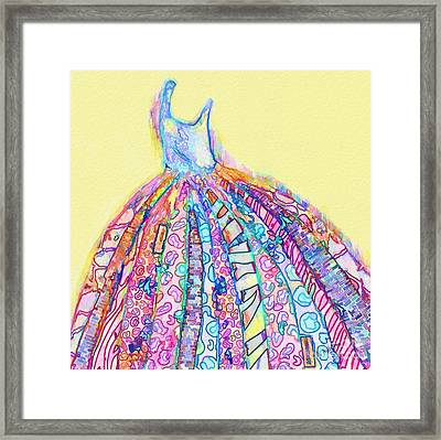 Crazy Color Dress Framed Print