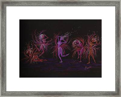 Framed Print featuring the drawing Crazy Day At Work Dance by Dawn Fairies