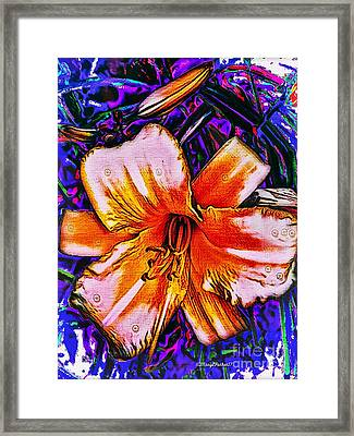 Crazy Day  Lily  Copyright  Mary Lee Parker 17,  Framed Print by MaryLee Parker