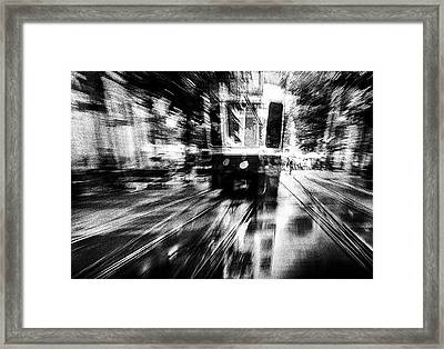 Crazy Driver Framed Print by Samanta