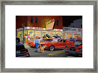 Crazy Eds Framed Print by Bruce Kaiser