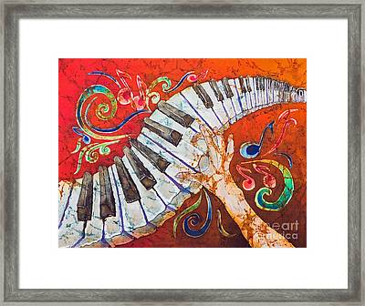 Crazy Fingers - Piano Keyboard  Framed Print by Sue Duda