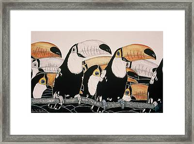 Crazy For Toucans Framed Print by Dee Van Houten