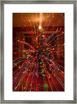 Crazy Fun Christmas Tree Lights Abstract Print Framed Print by James BO  Insogna