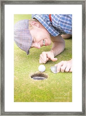 Crazy Golfer Framed Print
