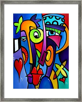 Crazy Hearts Framed Print