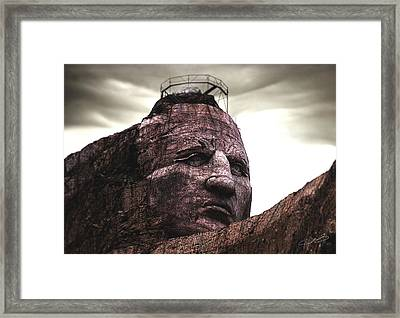 Crazy Horse Framed Print by Jeremy Martinson
