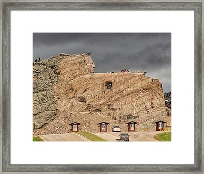 ...entrance Crazy Horse Memorial South Dakota.... Framed Print