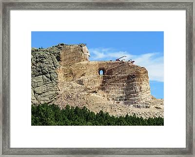 Crazy Horse Monument Framed Print