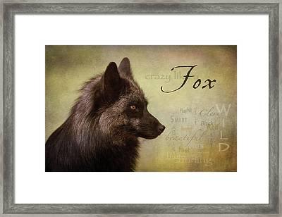 Crazy Like A Fox Framed Print