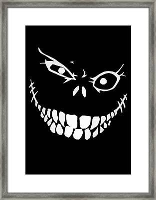 Crazy Monster Grin Framed Print