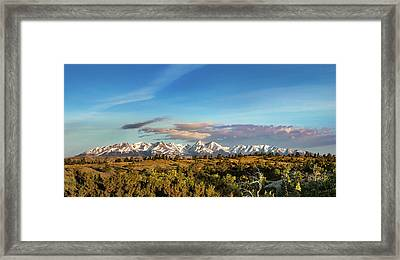 Crazy Mountains Framed Print